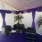 Marquee hire seating